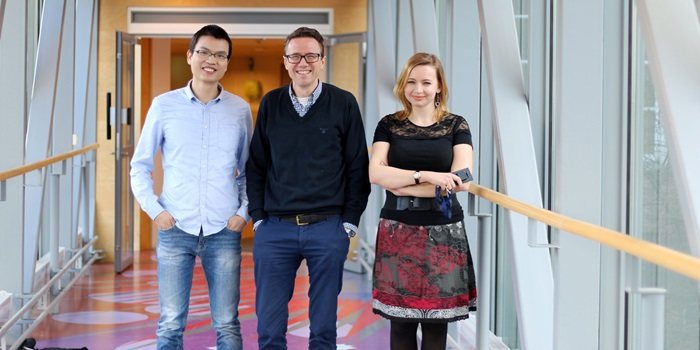 From left: Zhiwei, Jens, Anastasia. Photo by Martina Butorac