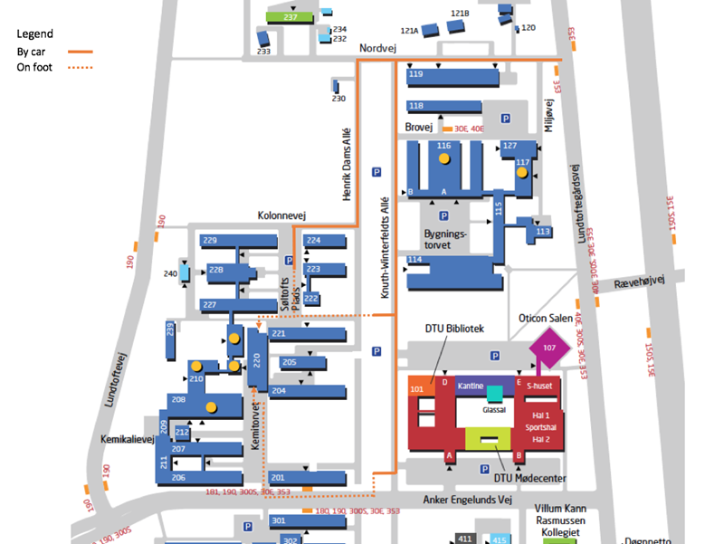 Map to Building 220