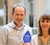 Sheila and Alex with Blue Flame Award from Addgene